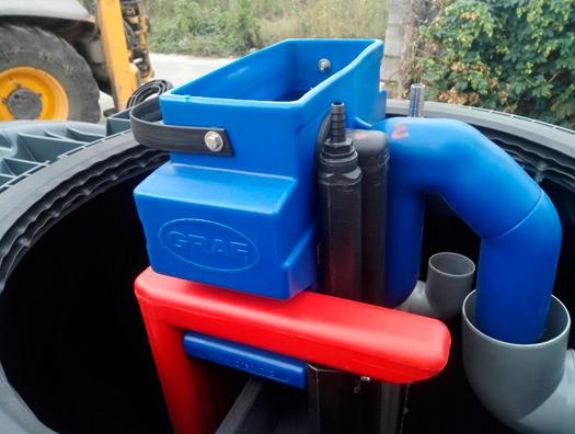 Монтажные работы системы очистки сточных вод