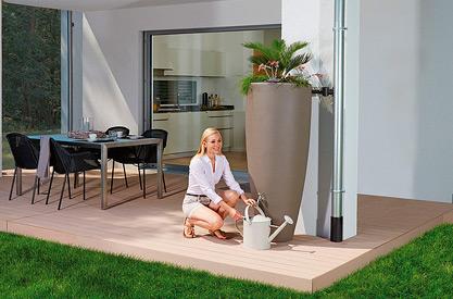 Декоративна ємність для саду та ділянки 2in1