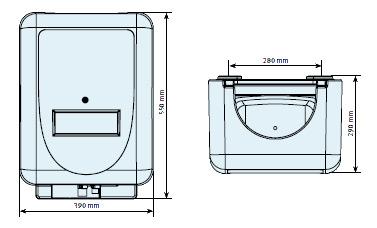 Ящик из вспененого полипропилена для установки в помещении, код  107829