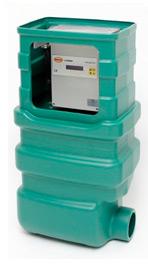Ящик пластиковый для наружной установки, зеленый, код 107990