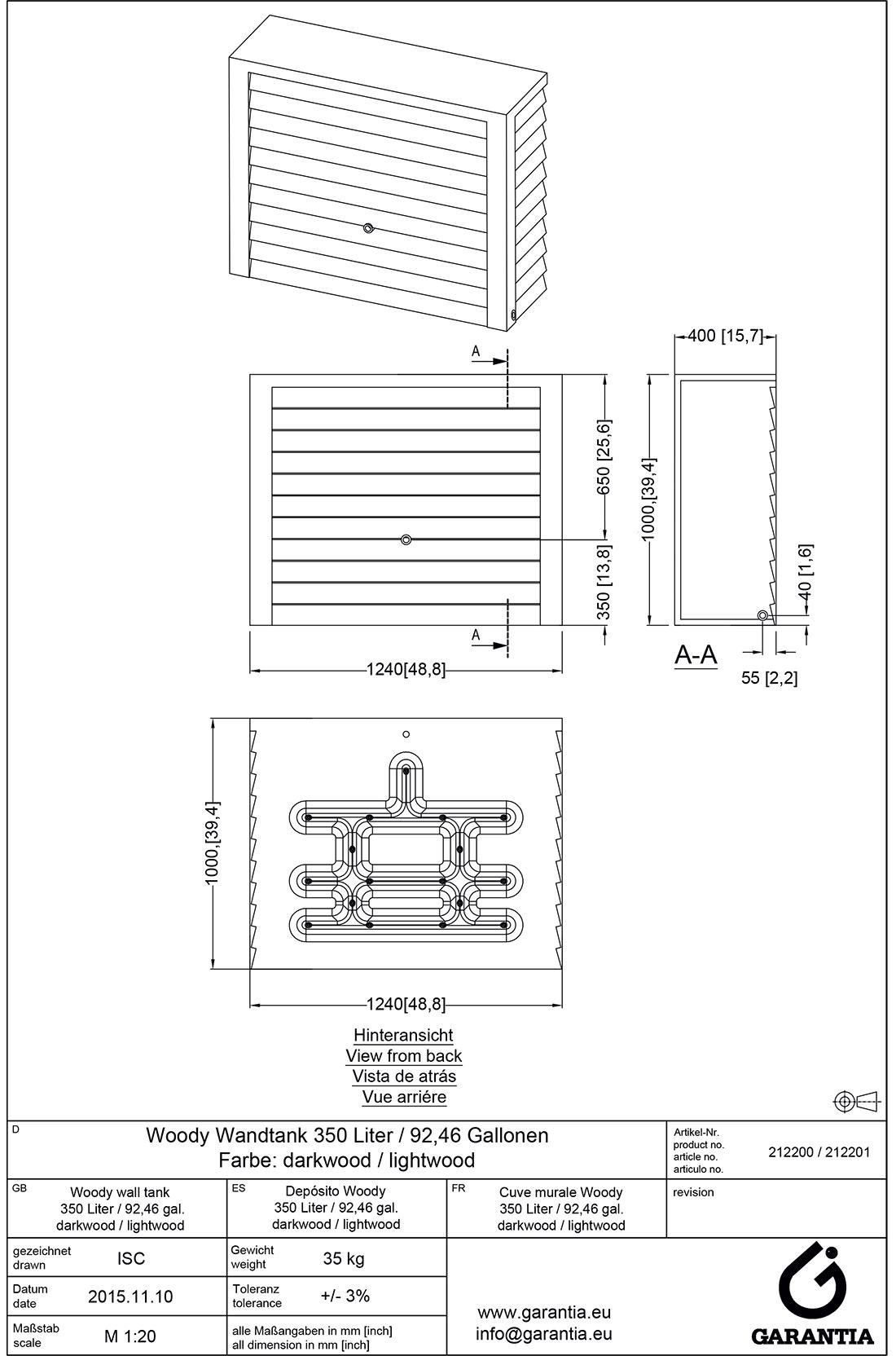 Размеры и инструкция по установке
