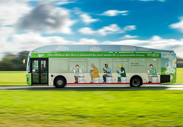 Автобус, що працює на відходах життєдіяльності