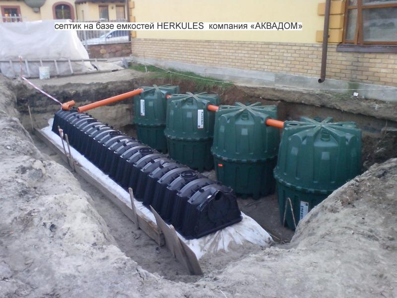 Станция очистки септик Herkules, Житомирская обл.