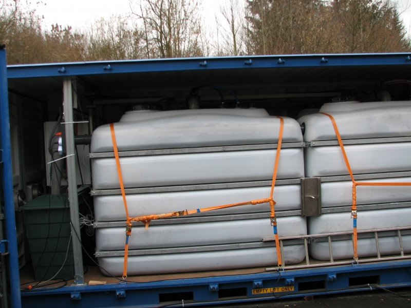 Система очистки контейнерного типа